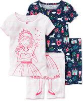 Carter's 4-Pc. Princess Pajama Set, Little Girls (2T-6X) & Big Girls (7-16)
