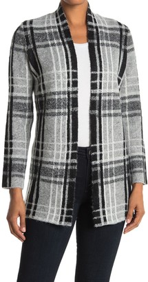 Cyrus Plaid Print Open Front Cardigan