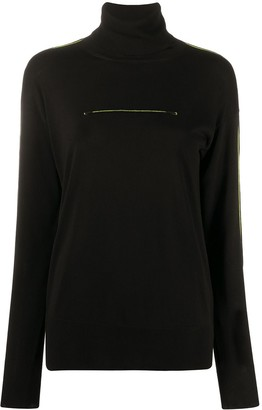 MM6 MAISON MARGIELA Stitching Detail Turtle Neck Jumper