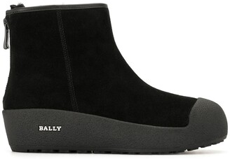 Bally Platform Leather Ankle Boots