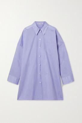 Acne Studios Oversized Cotton-blend Poplin Shirt - Azure