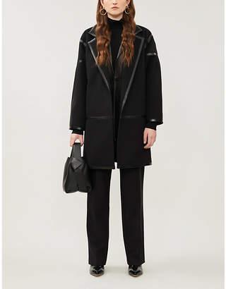 Max Mara Nizza notch lapels wool-cashmere blend coat
