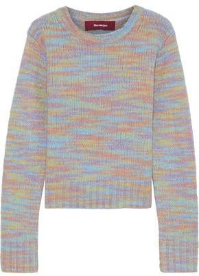 Sies Marjan Xie Melange Merino Wool And Silk-blend Sweater