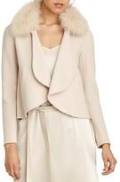 Halston Fur Collar Coat