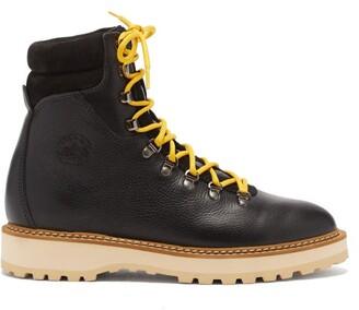 Diemme Monfumo Grained-leather Boots - Black