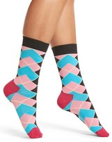 Happy Socks Women's Iris Apfel Argyle Crew Socks