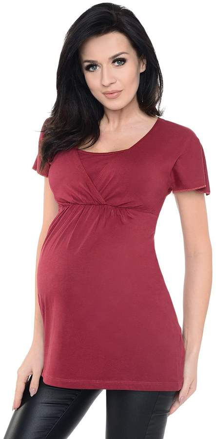 Purpless Maternity 2in1 Maternity and Nursing Short Sleeved Top 7742