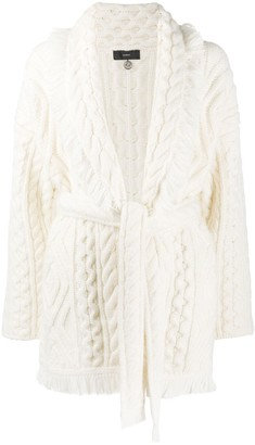 Alanui New Fisherman Icon Cardigan Lapponia Whi