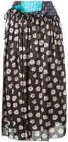 ASTRAET multi-print draped skirt