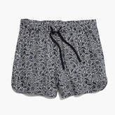 Madewell Drapey Pull-On Shorts in Woodcut Floral