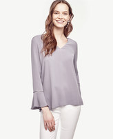 Ann Taylor Lacy Bell Sleeve Top