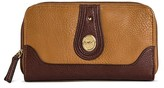 Bolo Women's Faux Leather Wallet with Back/Interior Compartments and Zipper Closure - Camel