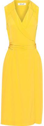 Diane von Furstenberg Augusta Silk Crepe De Chine Midi Wrap Dress