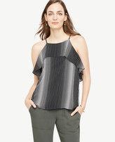 Ann Taylor Home Tops + Blouses Stripe Flouncy Halter Top Stripe Flouncy Halter Top