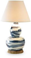 Bunny Williams Home Brushstroke Table Lamp - Blue/White