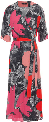 Paul Smith Printed Crepe Midi Wrap Dress