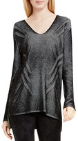 Two by VINCE CAMUTO Plaited Ribbed V-Neck Tunic