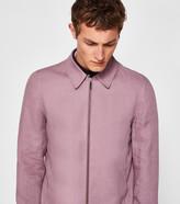 Linen-blend Harrington Jacket