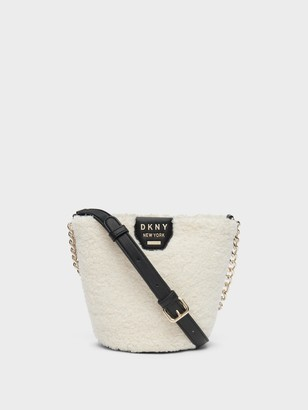 DKNY Shane Faux Shearling Bucket Bag