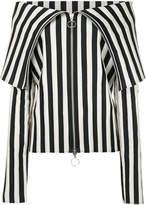 Marques Almeida Marques'almeida foldover collar striped top