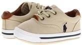 Polo Ralph Lauren Vaughn Soft Sole (Infant/Toddler) (Khaki Canvas) Boy's Shoes
