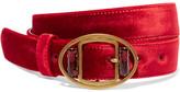 Prada Embellished Velvet Waist Belt - Red