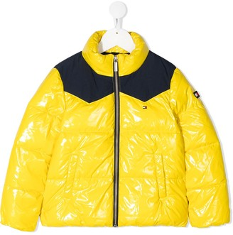 Tommy Hilfiger Junior Quilted High-Shine Coat