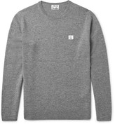 Acne Studios Dasher Mélange Wool Sweater - Gray