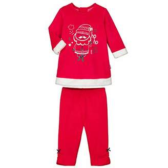 Camilla And Marc Baby Pajamas 2 Pieces Ho Ho Ho Dress + Leggings - Size 18 Months (86 cm)