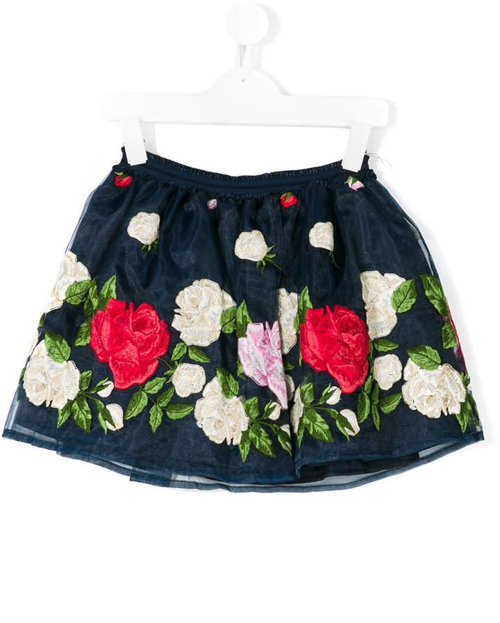 Miss Blumarine floral embroidered tutu