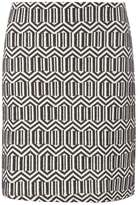 Dorothy Perkins Black And White Zig Zag Mini Skirt