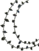 Ten Thousand Things Necklace with Black Ancient Beads on Oxidized Sterling Silver Chain