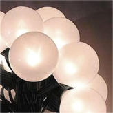 Asstd National Brand Set of 15 White Pearl G50 Globe Christmas Lights with Green Wire