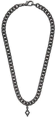 Marcelo Burlon County of Milan Gunmetal Cross Necklace