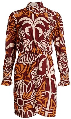 Johanna Ortiz Colors & Possession Printed Wrap Dress