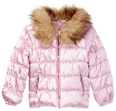 Juicy Couture Quilted Puffer Faux Fur Trim Jacket (Little Girls)