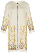 Andrew Gn Bead Embroidered Linen Coat