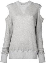 Bassike cut-out sweatshirt - women - Cotton/Polyurethane/Rayon - 6