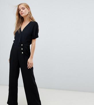 Pimkie button front jumpsuit in black
