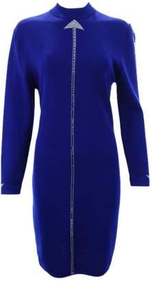 St. John Blue Wool Dress for Women