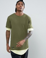 Cayler & Sons Longline Layered T-Shirt With Distressing
