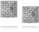 Anita Ko Pyramid 18-karat white gold diamond stud earrings