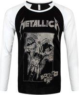 Metallica Men's Damaged Baseball Long-sleeve T-Shirt