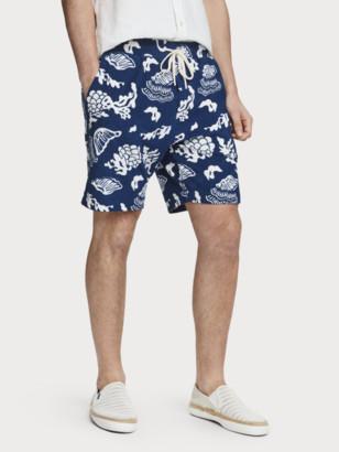 Scotch & Soda Printed Toweling Sweat Shorts | Men