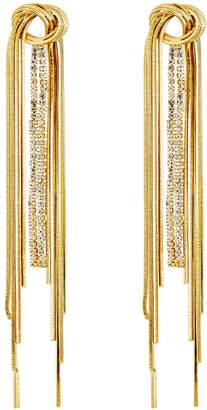 Nakamol Chain & Rhinestone Dangle Earrings