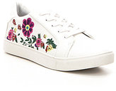Betsey Johnson Mayas Floral Embroidered Lace-Up Sneakers