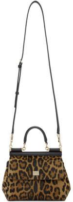 Dolce & Gabbana Tan and Black Leopard Pony Hair Bag