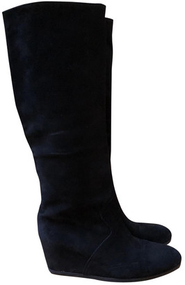 Maliparmi Black Suede Ankle boots
