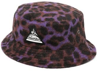 Billionaire Boys Club Logo-Patch Leopard-Print Bucket Hat