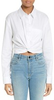Alexander Wang Women's Cotton Twist Hem Shirt